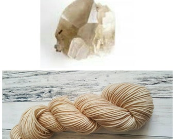Hand Dyed Yarn, Superwash Merino Worsted Weight Tonal Yarn Perfect for Hats, Cowls, Scarves and Sweaters - Smokey Quartz