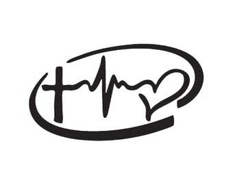 Faith Hope Love Inside Infinity Vinyl Decal