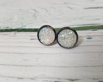 Cair Paravel Faux Druzy Gem Jewelry, Diamond Druzy, April Birthstone, Fantasy Jewelry, Book Jewelry, Druzy Earring, Druzy Pendant