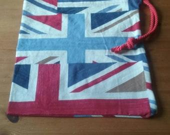 Children's Union Jack drawstring bag