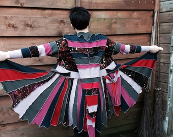 great colorful sweatercoat, katwise inspired