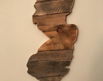 New Jersey Wooden Sign