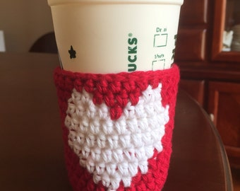 Crochet holiday colors cup cozy