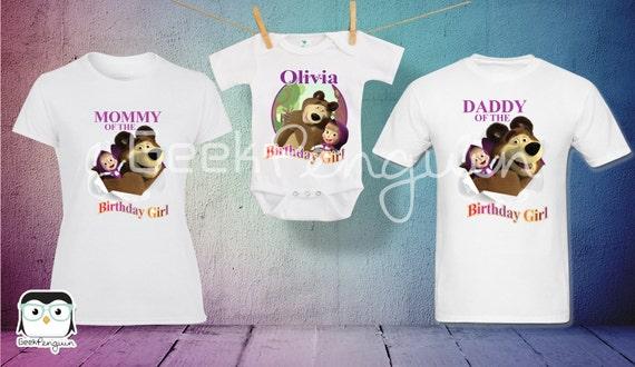 Camisa de Cumpleaños de Masha y el Oso Camisa para Mama y