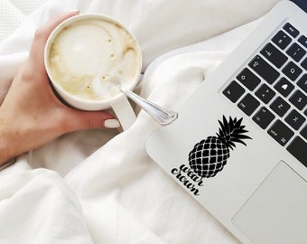 Wear crown sticker, macbook sticker, laptop decal, car decal, touchpad sticker, pineapple decal, wear crown decal, hawaiian decal