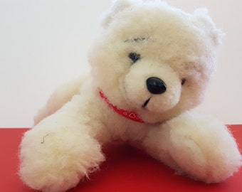 polar bear toy; woolen organic toy; eco friendly toy; cuddle toy; gift toy;