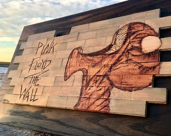 Pink Floyd The Wall Stained Pyrography