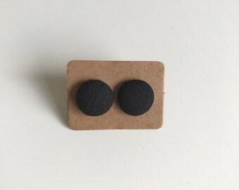 Black Fabric Studs