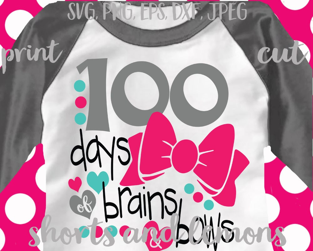 School Svg 100th Day Of School Svg Brains And Bows Svg