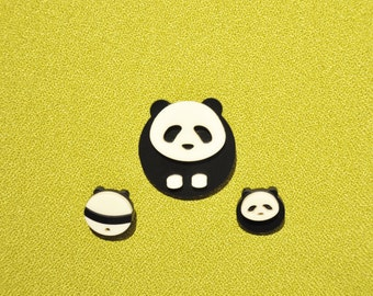 Panda Collar Pins and Brooch