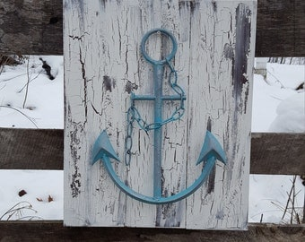 Wooden Anchor Wall Decor anchor wall decor | etsy