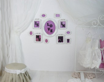 A set of 11 pictures, 1/6 scale, blythe, pullip, barbie, wall paintings, wall decoration, doll house