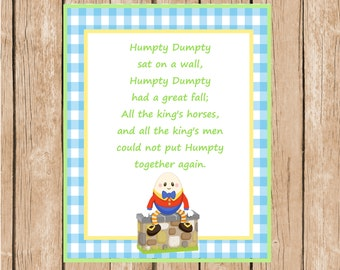 8x10 Humpty Dumpty Wall Art