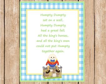 8x10 Humpty Dumpty Wall Art