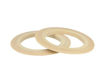 2 bracelets wooden flat 68 mm - Bracelet wood
