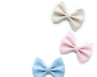Dafodil>> simple modern classic linen spring summer bows