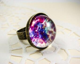 Galaxy ring, Statement ring, Big ring, Nebula ring, Space ring, Universe ring, Space jewelry, Galaxy jewelry, Universe jewelry, Outer space