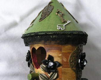 Steampunk Birdhouse - Rosies Home - Decorative Use Only - Gadget Gal Lab
