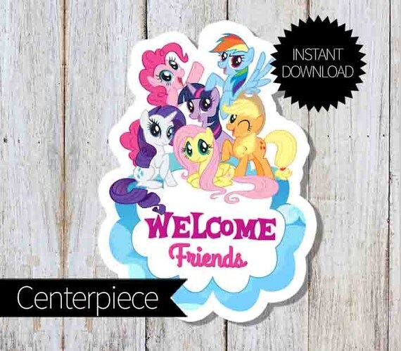 My Little Pony Birthday Party Printable Large Centerpiece