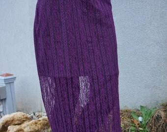 Purple Lady in Lace