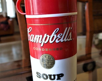 Vintage Campbell's Soup Thermos Can-Tainer 1998 Kitchen Tool Collectible