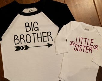 Big Brother Shirt, Little Sister, Big Brother, Little Sister, Big Brother Personalized Shirt, Big Brother Shirts