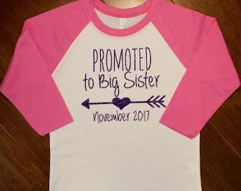 Big Sister Shirt, Promoted to Big Sister, New Big Sister Shirt, Promoted to Big Sister Shirt, New Baby, New Sister, Sister Shirt