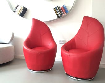 Design Modern Red Leaf Chair Armchiars Swivel chair