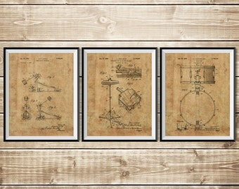 Drum Art Print, Patent Print Group, Drum Art Poster, Drummer Decor, Drum Nursery, Drum Nursery Decor, Drum Set Print, Art, INSTANT DOWNLOAD