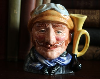 SALE Wonderful Royal Doulton Toby Jug Veteran Motorist Retired D6637