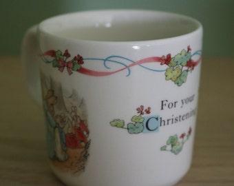 Fine China Wedgwood Peter Rabbit Christening Mug 1992