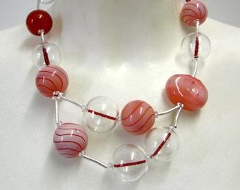 Madonna - unique glass Pearl Necklace