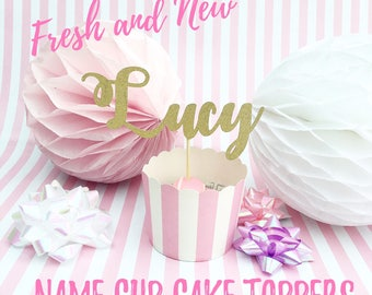 Personalised Name Cup Cake Toppers