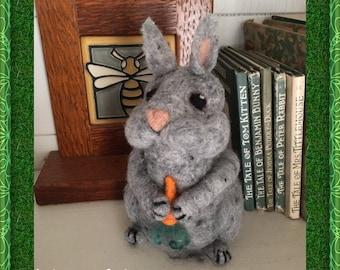 Needle Felted Rabbit, Wool Rabbit, Bunny Rabbit, Easter Bunny