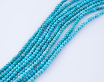 """3mm Turquoise Beads, Turquoise Bead Strands, 16"""" Inch Strand Length, Round Beads, Loose Beads, Semi-Precious, Priced per Strand,  TUR01"""