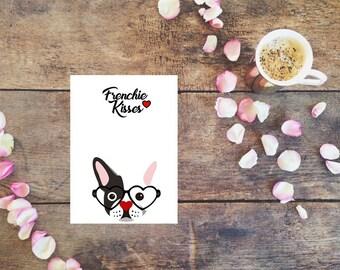 French Bulldog Valentine, Wedding, Anniversary, Happy Birthday, Thank You, I'm Sorry, Engagement Card, Frenchie Card, Greeting Card, Dog
