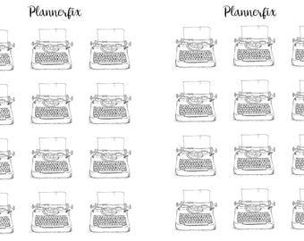 Vintage Typewriters. Stickers