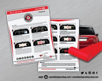 Customizable Vinyl Car Installation Guide for Vinyl Shop Owners - Illustrated and Personalized with your Branding and Company Info
