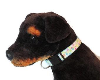 Large Multi-Color Dot Dog Collar