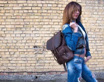 Retro backpack leather backpack vintage backpack men backpack brown backpack woman backpack large backpack big backpack aviator backpack