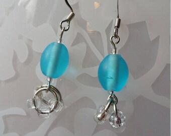 Adorable Blue Earrings