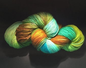 Hand Dyed Merino High Twist Superwash in Colorway ENCHANTED