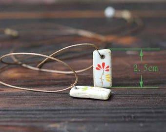 Handmade stone flower necklace