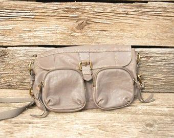 Vintage Fossil Handbag, gray