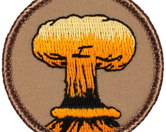 Atomic Explosion Patch (014) 2 Inch Diameter Embroidered Patch