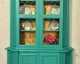 Vintage Painted China Display Cabinet