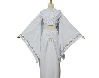 Padme Amidala Princess White Dress Cosplay Costumes