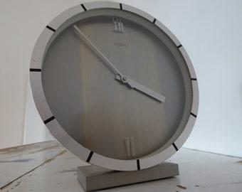 Kienzle automatic silver clock Møller era original clock vintage