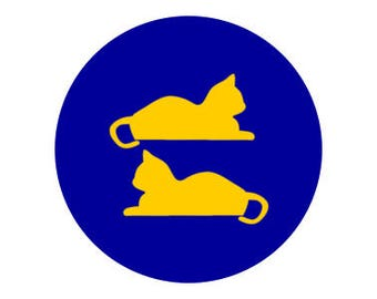"Equality Cat Symbol 1"" pinback button"