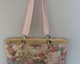 carnations lin tote bag melts off-white print shabby romantic